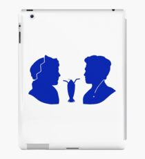 Milkshake Silhouette (J+A | Blue) iPad Case/Skin
