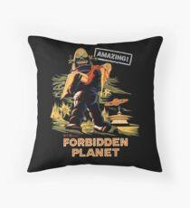 Forbidden Planet Poster Throw Pillow