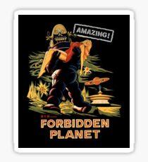 Forbidden Planet Poster Sticker