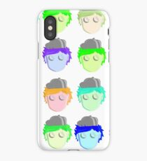 Cartoon Face Pop Illistration iPhone Case/Skin