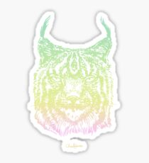 Lynx In Space Sticker