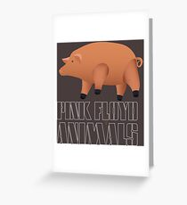 Pink Floyd - Animals Greeting Card