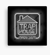 Welcome to the trap house - open 247 Canvas Print