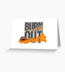 Burn Out - Drift Race Challenge Greeting Card