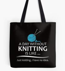 Knitter Gifts Knitting Lovers Tote Bag