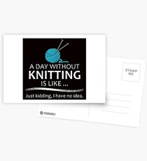 Knitter Gifts Knitting Lovers Postcards