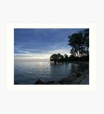 Lake Ontario as the Sun goes Down Art Print