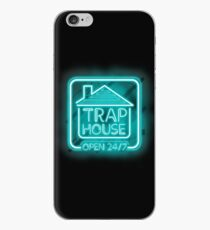 Welcome to the Trap House - Light blue neon 247 - all day / all night iPhone Case