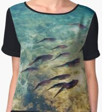 Caribbean Reef Squid in Oils Chiffon Top