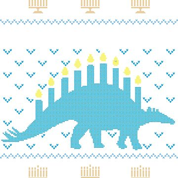 Ugly Hanukkah Sweater, Menorasaurus, Jewish dinosaur shirt by taraJcreative