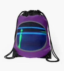 Neon Blue Green  Drawstring Bag