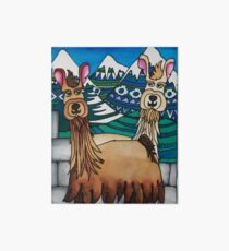 A Spittoon of Alpacas Art Board