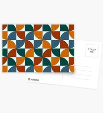Blue and Orange Mid Century Mod Postcards