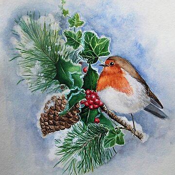 Winter robin by gabo2828