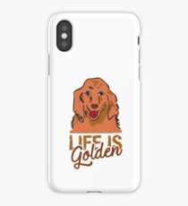 Golden Retriever Celebraring Life iPhone Case