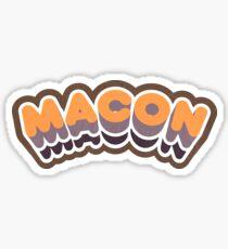 Macon, GA | Retro Curve Sticker