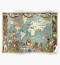 Imperial Federation, Map of the World Showing the Extent of the British Empire in 1886 Poster