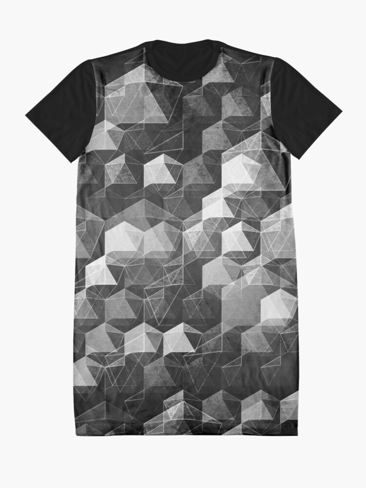 Alternate view of AS THE CURTAIN FALLS (MONOCHROME) Graphic T-Shirt Dress