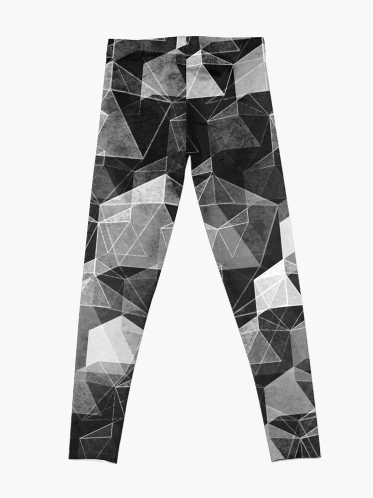 Alternate view of AS THE CURTAIN FALLS (MONOCHROME) Leggings