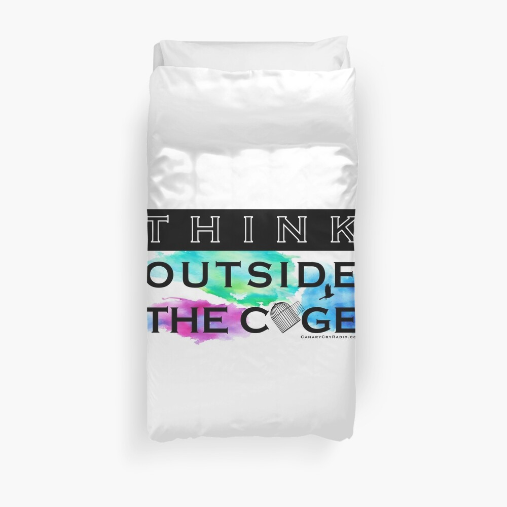 Think Outside the Cage - Colorful Duvet Cover