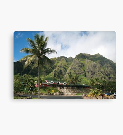 Kualoa Ranch Mountains Canvas Print