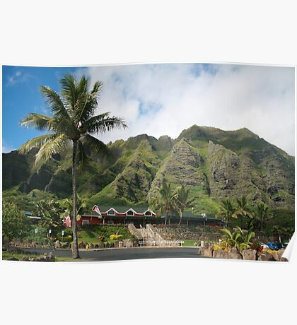 Kualoa Ranch Mountains Poster