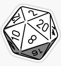 Simple D20 Sticker