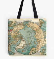 Antique Maps - Old Cartographic Maps - Antique Map Of North Pole And Arctic Ocean In German Tote Bag