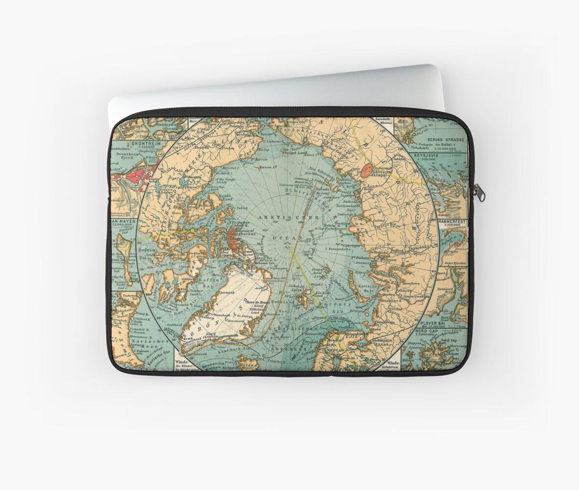 Fundas para portátil «Mapas antiguos - Mapas cartográficos antiguos ...