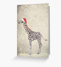 Weihnachtsgiraffe Grußkarte