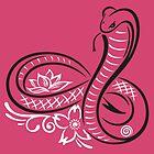 Schlange, Kobra, in Form einer Unendlichkeitsschleife. von Christine Krahl