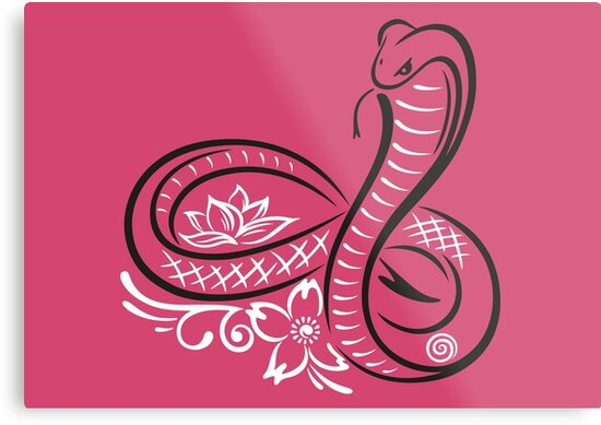 Lienzos Metálicos Serpiente Cobra Con El Símbolo Del Infinito