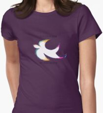 Peace Sparrow Womens Fitted T-Shirt