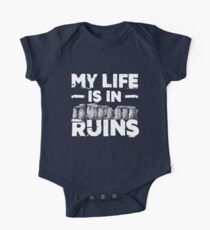 My Life Is In  Ruins Archeology One Piece - Short Sleeve