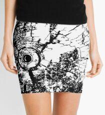 Cracked Wood Creature - Shee Texture / Pattern Mini Skirt