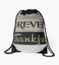 Forever Thankful Drawstring Bag