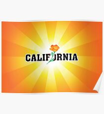 California the Golden State Poster