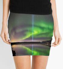 Northern lights and Yoko's peace column Mini Skirt