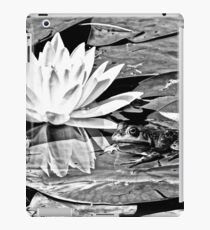 A frog's life in black and white iPad Case/Skin