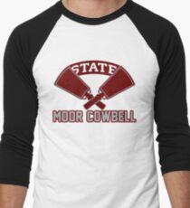 Joe Moorhead Moor Cowbell Hail State Mississippi State Football Men's Baseball ¾ T-Shirt