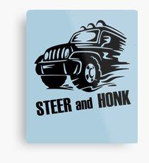 Steer and Honk design Metal Print