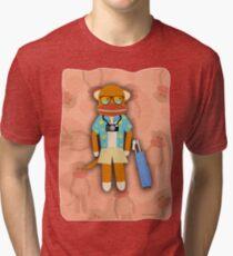 Cool Tourist Sock Monkey Tri-blend T-Shirt