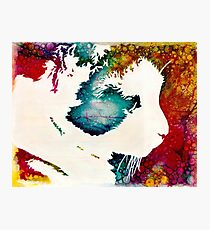"""""""The Lion The Beast The Beat"""" Calico Cat Photographic Print"""
