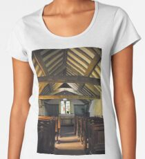 Church of St Olaf, Wasdale head. Interior. Women's Premium T-Shirt