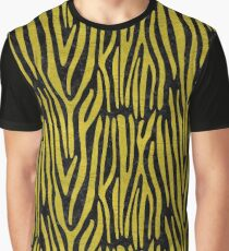 SKIN4 BLACK MARBLE & YELLOW LEATHER Graphic T-Shirt