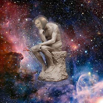 Surreal Thinker Meme Man In Space  by jotatopotato
