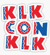 KLK Con KLK Dominican Republic T Shirts & Gifts Sticker