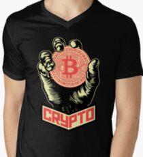 CRYPTO Men's V-Neck T-Shirt