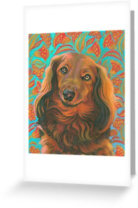 Loverly long haired dachshund greeting cards by jane oriel redbubble loverly long haired dachshund by jane oriel m4hsunfo