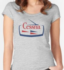 Cessna Vintage Aircraft USA Women's Fitted Scoop T-Shirt